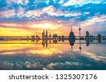 kuala lumpur urban landscape at ... | Shutterstock . vector #1325307176