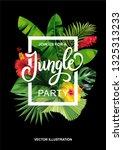 tropical hawaiian party...   Shutterstock .eps vector #1325313233