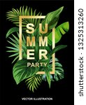 tropical hawaiian party... | Shutterstock .eps vector #1325313260