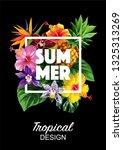tropical hawaiian flyer with...   Shutterstock .eps vector #1325313269