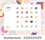 simple color sports icon set.... | Shutterstock .eps vector #1325325329