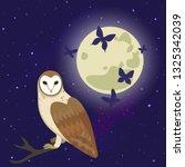 vector illustration with moon...   Shutterstock .eps vector #1325342039
