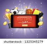 online sports betting vector... | Shutterstock .eps vector #1325345279