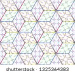 colorful seamless rhombus... | Shutterstock . vector #1325364383