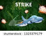 illustration of air strike with ... | Shutterstock .eps vector #1325379179
