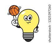 cartoon light bulb character...   Shutterstock .eps vector #1325397260