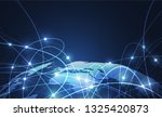 global network connection.... | Shutterstock .eps vector #1325420873