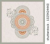 vintage indian mandala design... | Shutterstock .eps vector #1325424443