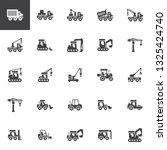construction truck vector icons ... | Shutterstock .eps vector #1325424740