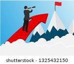 business success concept.... | Shutterstock .eps vector #1325432150