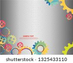 abstract techno gear background ...   Shutterstock .eps vector #1325433110