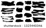 set of black ink hand drawn... | Shutterstock .eps vector #1325440346