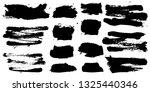 set of black ink hand drawn... | Shutterstock .eps vector #1325440346