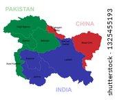 map of kashmir is a...   Shutterstock .eps vector #1325455193