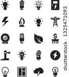 solid black vector icon set  ... | Shutterstock .eps vector #1325471093