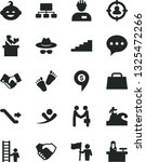 solid black vector icon set  ... | Shutterstock .eps vector #1325472266