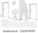 corridor graphic black white...   Shutterstock .eps vector #1325474999
