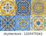 portuguese azulejo ceramic tile ...   Shutterstock .eps vector #1325475263