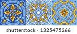 portuguese azulejo ceramic tile ...   Shutterstock .eps vector #1325475266