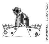 barn farm fresh | Shutterstock .eps vector #1325477630