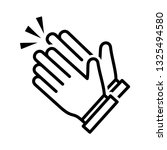 clapping hand icon vector eps 10 | Shutterstock .eps vector #1325494580