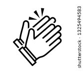 clapping hand icon vector eps 10 | Shutterstock .eps vector #1325494583