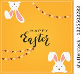 rabbit heads and lettering... | Shutterstock . vector #1325503283