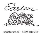 hand draw easter  vector   Shutterstock .eps vector #1325509919