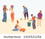 african character hard working... | Shutterstock .eps vector #1325521256