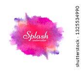 modern watercolor splash bright ...   Shutterstock .eps vector #1325534990