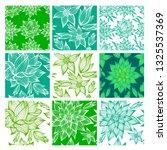 vector set of nine green... | Shutterstock .eps vector #1325537369