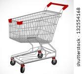 Shopping supermarket cart. Vector. - stock vector