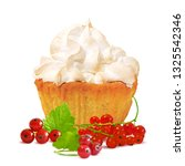 pastry with cream and red...   Shutterstock .eps vector #1325542346