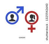 gender concept vector icon.... | Shutterstock .eps vector #1325542640