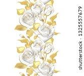 vector flower border. realistic ... | Shutterstock .eps vector #1325557679