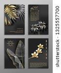 set of 4 elegant brochure  card ... | Shutterstock .eps vector #1325557700