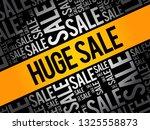 huge sale word cloud collage ... | Shutterstock .eps vector #1325558873