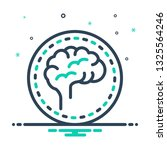colorful icon for brain | Shutterstock .eps vector #1325564246
