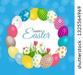 abstract happy easter template... | Shutterstock .eps vector #1325564969