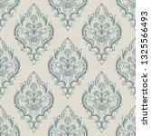 vector damask seamless pattern... | Shutterstock .eps vector #1325566493