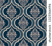 vector damask seamless pattern... | Shutterstock .eps vector #1325566496