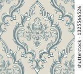vector damask seamless pattern...   Shutterstock .eps vector #1325566526