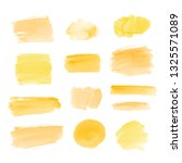 yellow watercolor splotches for ... | Shutterstock . vector #1325571089