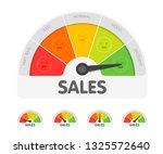 sales meter with different... | Shutterstock .eps vector #1325572640