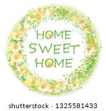 vector  floral  circle  frame.... | Shutterstock .eps vector #1325581433