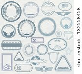 empty template of rubber stamps.... | Shutterstock .eps vector #132558458