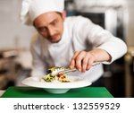 salad is ready to be served.... | Shutterstock . vector #132559529