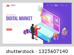 design website or landing page... | Shutterstock .eps vector #1325607140