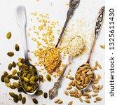 Seeds Of A Flax  Sesame ...