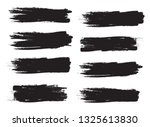 brush stroke set isolated on... | Shutterstock .eps vector #1325613830